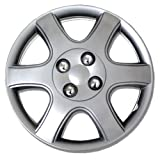 TuningPros WSC-888S14 Hubcaps Wheel Skin Cover 14-Inches Silver Set of 4