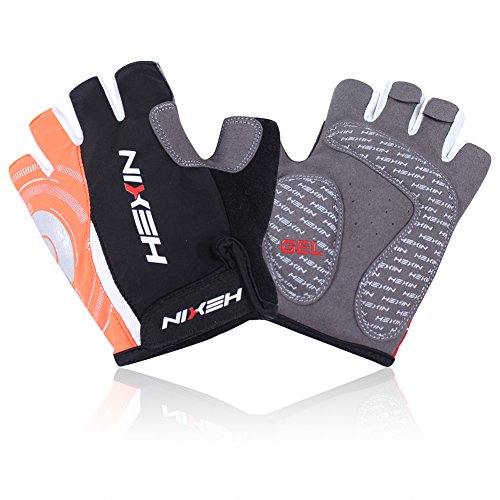 HEXIN Cycling Gloves Mountain Bike Gloves Road Racing Bicycle Gloves Light Silicone Gel Pad Riding Gloves Half Finger Biking Gloves