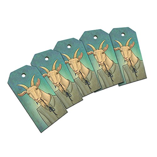 Portrait of a Goat Wooden Wood Gift Tag Set