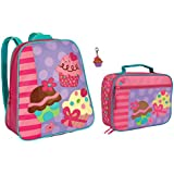 Stephen Joseph Cupcake Backpack and Lunch Box with Zipper Pull - Girls Backpacks
