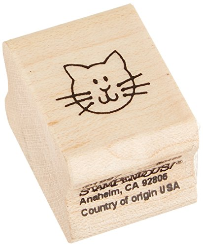 "Stampendous Mounted Rubber Stamp 3/4""X1""-Cat Face"