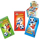 12 x Football Spiral Notebooks ~ Ideal Party loot bag fillers toys