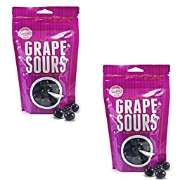 Sweet\'s Grape Sours With Tangy Soft Centers -Two 7 oz Bags - Fresh Product