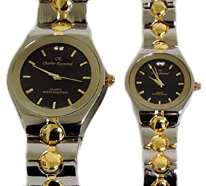 charles raymond his hers designer watches gold silver
