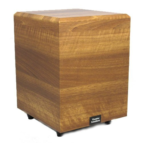 Theater Solutions Sub10Dm Down Firing Powered Subwoofer (Mahogany)