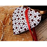 Christmas Gift Ideas Beautiful Heart Wall Hanging Love Ornament With Red Glass Polka Dots Design Home Decor Cyber...