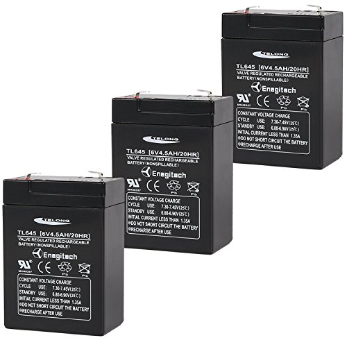 Enegitech 6V 4.5Ah Sealed Lead Acid SLA Battery Replacement for Decoy Mojo American Hunter - 3 Pack (Mojo Decoy Timer compare prices)