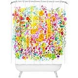 DENY Designs Stephanie Corfee Bubble Garden Shower Curtain, 69 by 72-Inch