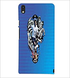 PrintDhaba Sporty D-2467 Back Case Cover for HUAWEI ASCEND P6 (Multi-Coloured)