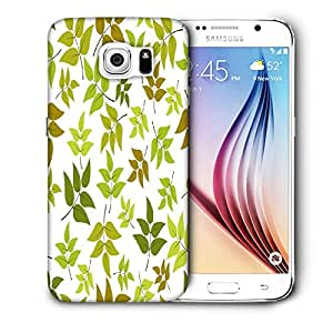 Snoogg Abstract Leaves White Pattern Printed Protective Phone Back Case Cover For Samsung Galaxy S6 / S IIIIII