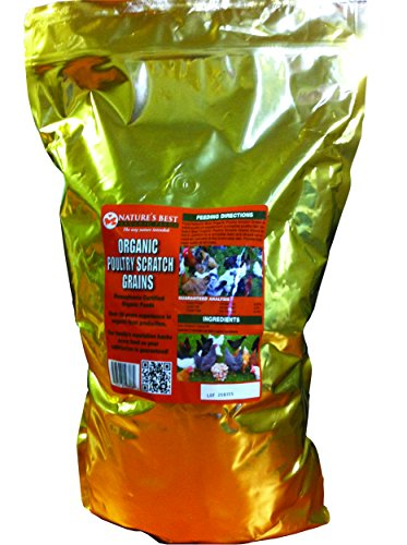 Natures Best Organic Feed M0991 Organic Poultry Scratch Grains 10 Pound