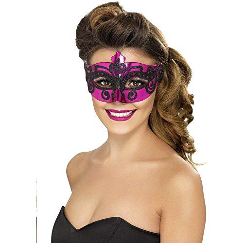 Venetian Shiny Pink Mask - 1