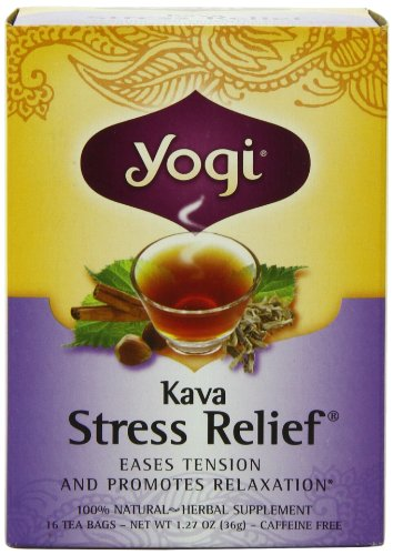 Yogi Kava Stress Relief Tea, 16 Tea Bags (Pack Of 6)