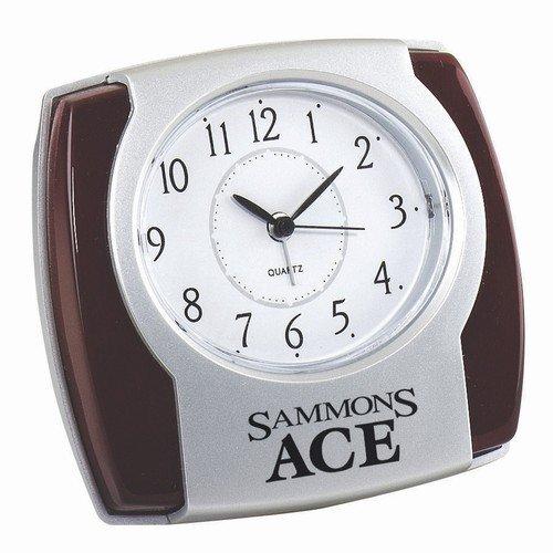 [Wood Trim Alarm Desk Clock] (Diy Aviator Costume)