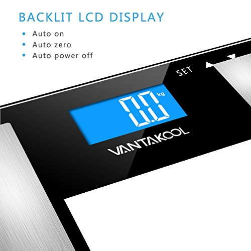 Body Fat Scale Vantakool Bathroom Scales 400 Lbs Capacity High Accuracy Measuring Digital