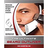 Beard Outliner Kit / 2 Beard Styles/ ROUND AND SQUARE set All-In-One Tool | The Beard Care & Grooming Gift Kit For Any Beard Bro | Use With A Beard Trimmer Or Razor To Style