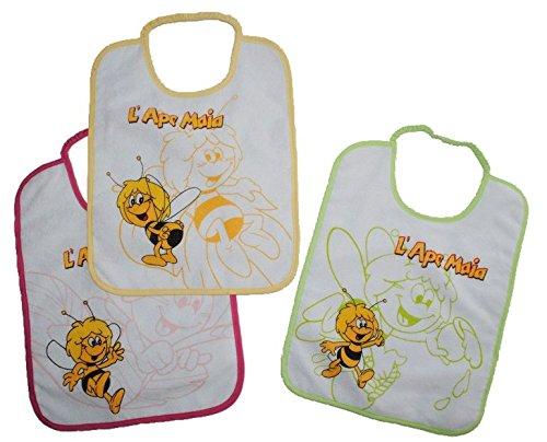 1-Stk-Babyltzchen-GRO-Biene-Maja-Willi-aus-weichem-Frottee-Unten-mit-extra-Folie-beschichtet
