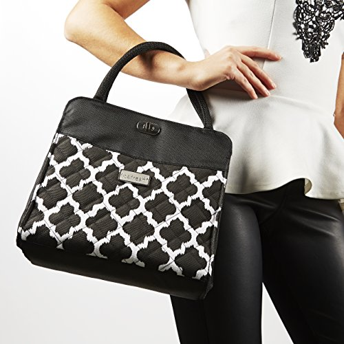 Signature Collection Ladies' Hobart Insulated Handbag - Black & White Ikat - 1
