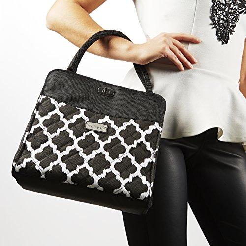 Signature Collection Ladies' Hobart Insulated Handbag - Black & White Ikat