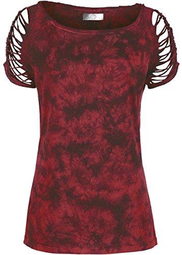 R.E.D. by EMP Cut Out Shirt Maglia donna bordeaux XL