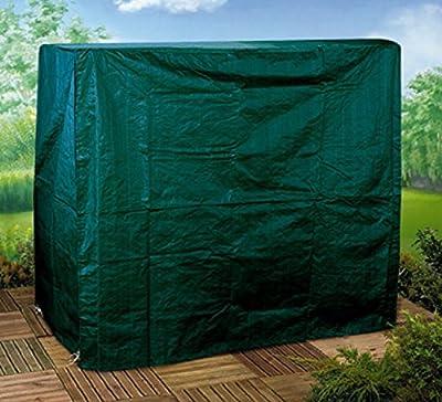 Gartenmöbel Abdeckung Schutzhülle 2-Sitzer Hollywoodschaukel 130 gsm Poly grün - aus hochwertigem reißfestem 130 gsm gewobenem PE-Gewebe hergestellt - mit Ösen, Nylonkordel und Reißverschluss - detaillierte Maße : 175 cm hoch, 202 cm breit, 108 cm