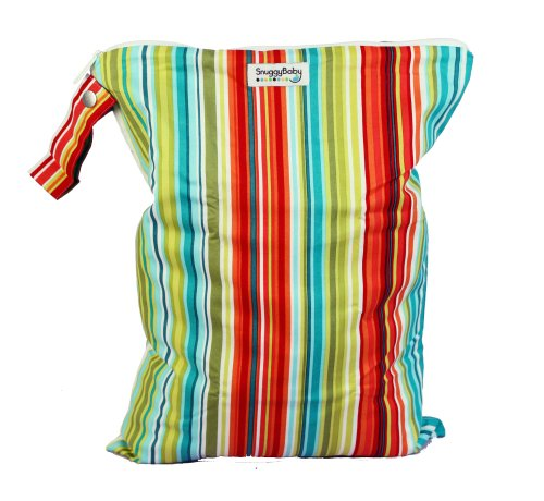 Snuggy Baby Large Wet Bag - Caribbean Stripe
