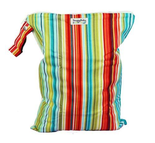 Snuggy Baby Large Wet Bag - Caribbean Stripe