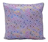 Brunton International Starbrite Foil Stamp Pillow, 20 by 20-Inch, Lavender
