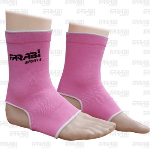 Farabi Sports Muay Thai kick boxing Foot Ankle Supports Pull over Pink (free shipping)