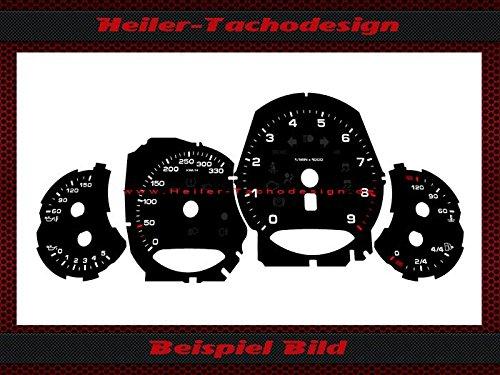 Tachoscheibe Porsche 911 991 Schalter Bj.2013 Mph zu Kmh