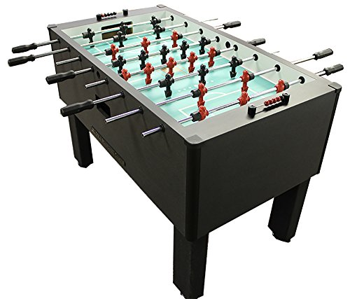 Gold-Standard-Home-Pro-Charcoal-Foosball-Stainless-Steel-Black