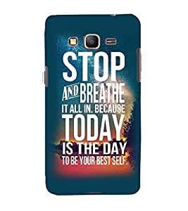 Printvisa Premium Back Cover Confidence Quote In A Blue Background Design For Samsung Galaxy Grand Prime G530h