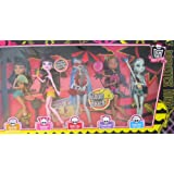 Monster High GLOOM BEACH 5 DOLL SET W EXCLUSIVE GHOULIA YELPS, Draculaura, Cleo De Nile, Clawdeen Wo