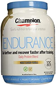 Champion Naturals Endurance Protein Powder, Vanilla, 1.1