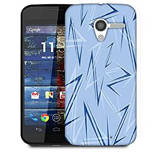 Snoogg Blue Z Designer Protective Phone Back Case Cover For Moto X / Motorola X