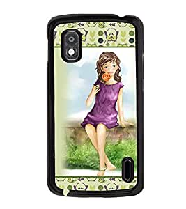 Fuson 2D Printed Girly Designer back case cover for LG Google Nexus 4 - D4280