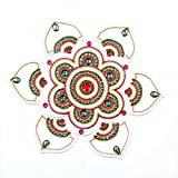 Andall Creations Kundan Rangoli Floor Decaratives