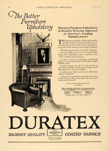 1920-ad-duratex-co-furniture-upholstery-chair-fireplace-original-print-ad
