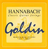 Hannabach 652727 Série 725 Cordes pour Guitare Classique Medium/High Tension Goldin