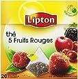 Lipton Thé parfumé 5 Fruits Rouges 20 sachets - Lot de 3