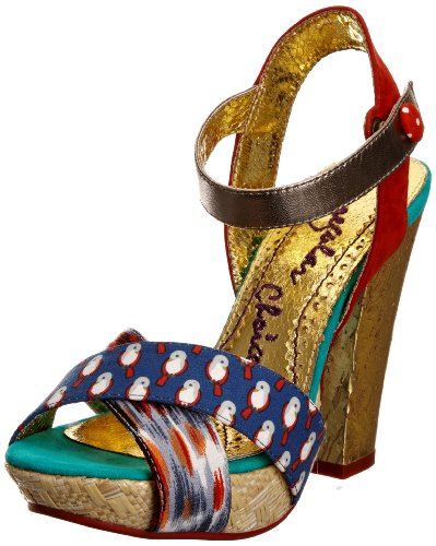 Irregular Choice Women's Whoopi Blue Multicolor Platforms Heels 4004-5A 6 UK, 39 EU
