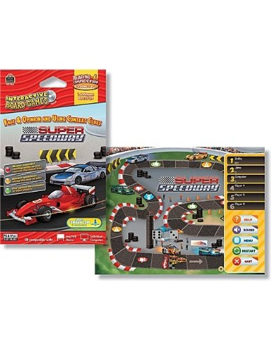 Teacher Created Resources Super Speedway Interactive Board Game Cd (7847)