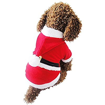 MIXMAX Pet Puppy Dog Christmas Clothes Reindeer Costume Outwear Coat Apparel Hoodie
