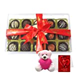 Chocholik Luxury Chocolates - Desserts Collection Of Chocolates With Teddy And Love Card