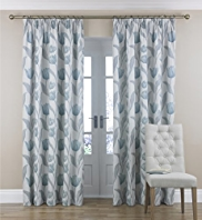 Tulip Jacquard Pencil Pleat Curtains
