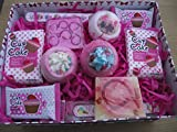 CUPCAKE SWEET SHOP BATH BOMB AND HANDMADE SOAP BATH & BODY GIFT SET - GIFT BOXED (X LARGE))