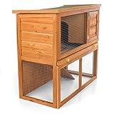Nagerkäfig Hasenkäfig Meerschweinchenkäfig Stall Gesamtmaße: ca. 90 x 45 x 80 cm, Holz -