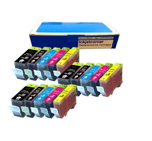Inkjetcorner 15 Pack Compatible Ink Cartridges NEW CHIPS for PGI-250XL BK CLI-251XL BK C M Y Canon Pixma IP7220 MG5420 MG5422 MG5520 MG6320 MX722 MX922