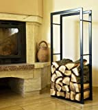 kaminholzregal kaminholzst nder 100cm schwarz holzkorb. Black Bedroom Furniture Sets. Home Design Ideas