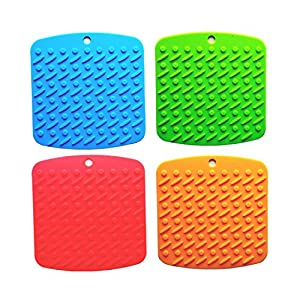 Amazoncom Multi function Silicone Mat Pot Holders Non slip Hot Pads And Coaster